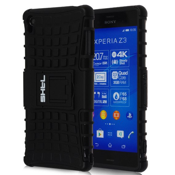SHTL Rugged Armor Case for Sony Xperia Z3 - Black