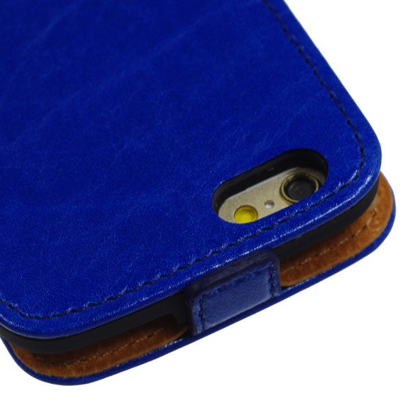 SHTL Genuine Leather Flip Case for iPhone 6/6s 4.7 - Blue Peacock made with Swarovski Elements