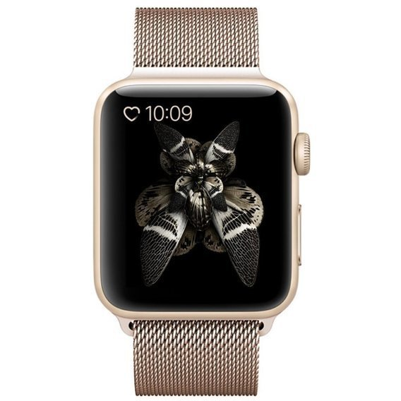 Bransoleta Milanese do Apple Watch 1/2/3/4/5 (42/44MM) - Champagne Gold