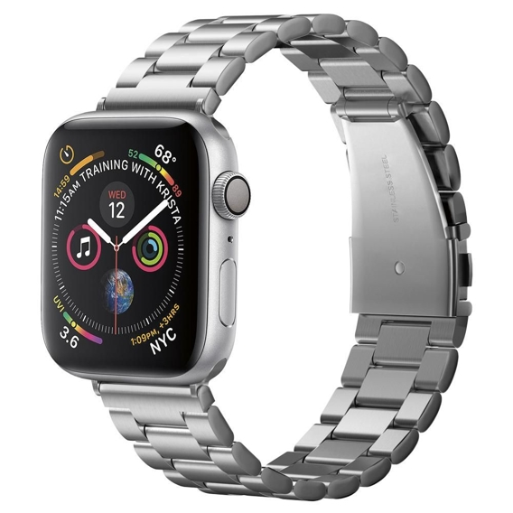 Bransoleta SPIGEN do Apple Watch 1/2/3/4 (42/44MM), Modern Fit Band, Silver