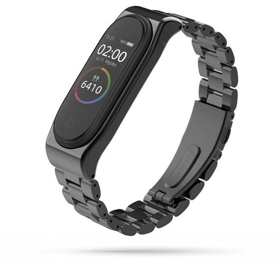 Bransoleta Stainless do Xiaomi Mi Band 4 / Mi Band 3 - Black