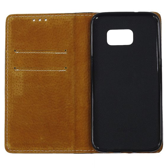 Czarne Etui Leather Flexi Book Samsung Galaxy S7