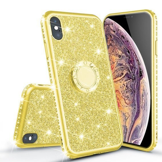 Etui Bling do iPhone Xr, Gold