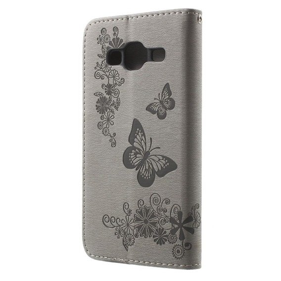Etui Butterfly Flexi Book Samsung Galaxy J3 2016 - Grey