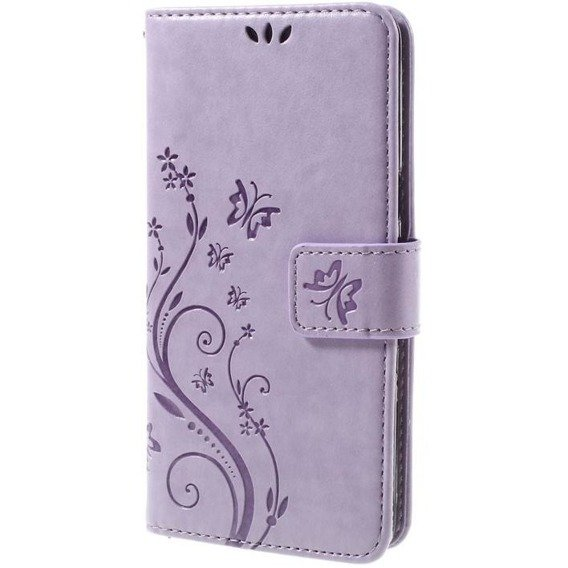 Etui Butterfly Flexi Book Samsung Galaxy J5 2016 - Fioletowy