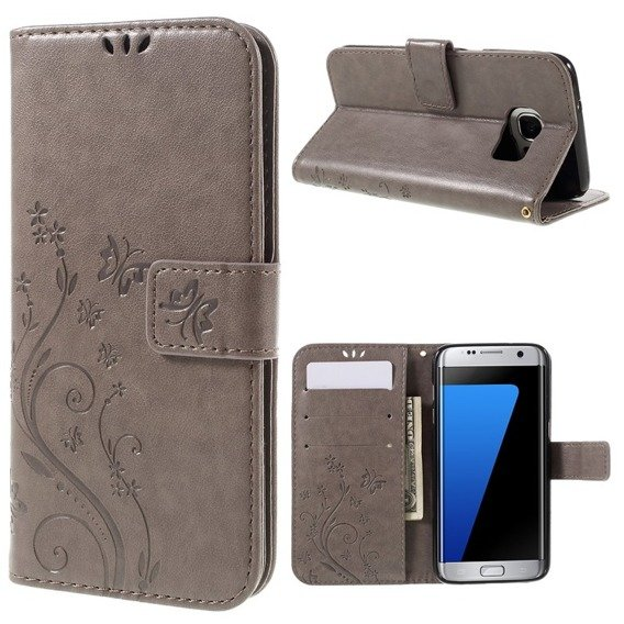 Etui Butterfly Flexi Book Samsung Galaxy S7 Edge - Grey