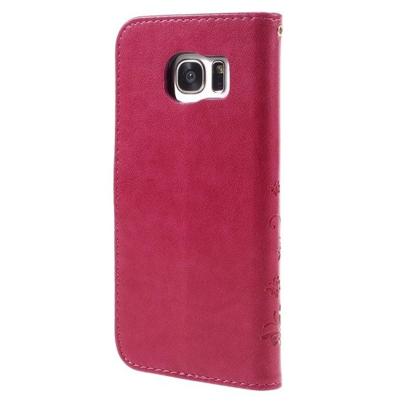 Etui Butterfly Flexi Book Samsung Galaxy S7 Edge - Rose