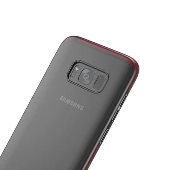 Etui Clear Design Gel Samsung Galaxy S8 Plus - Black/Red