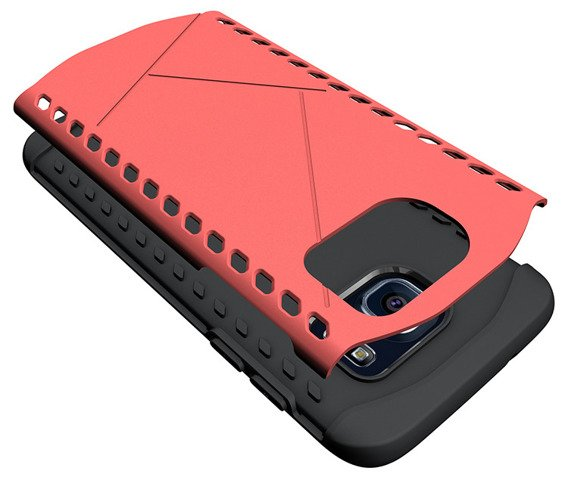 Etui DUAL Shield SAMSUNG GALAXY S7 Edge - Red