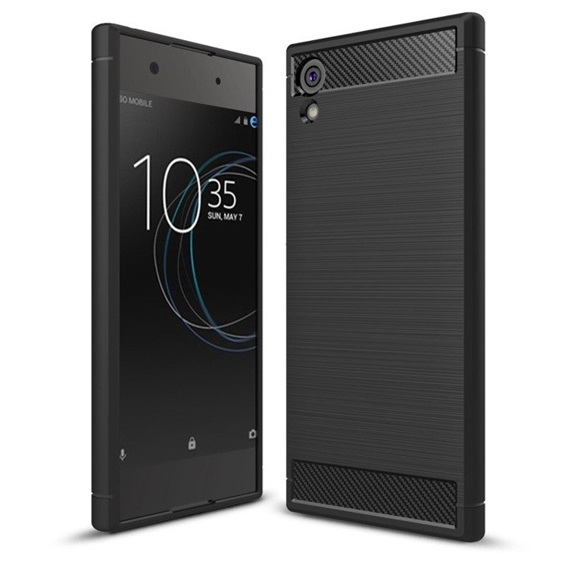 Etui ERBORD Karbon do Sony Xperia XA1 - Black