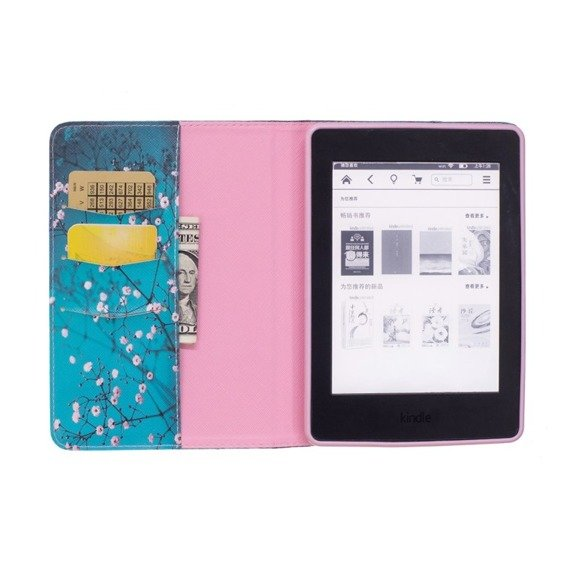 Etui Flexi Book Stand Case Amazon Kindle Paperwhite 1/2/3 - Tree with Flowers