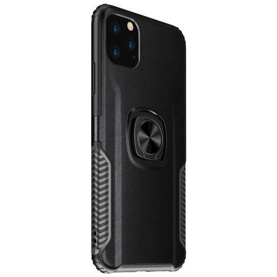Etui Leather Ring Case do iPhone 11 Pro Max - Black
