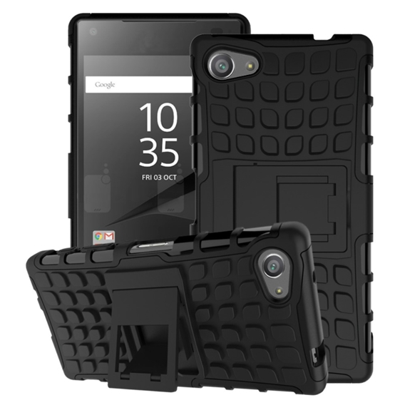 Etui SHTL do Sony Xperia Z5 Compact - RUGGED ARMOR - Black