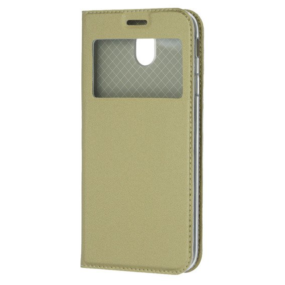 Etui Smart Look View Cover Samsung Galaxy J5 2017 - Złoty