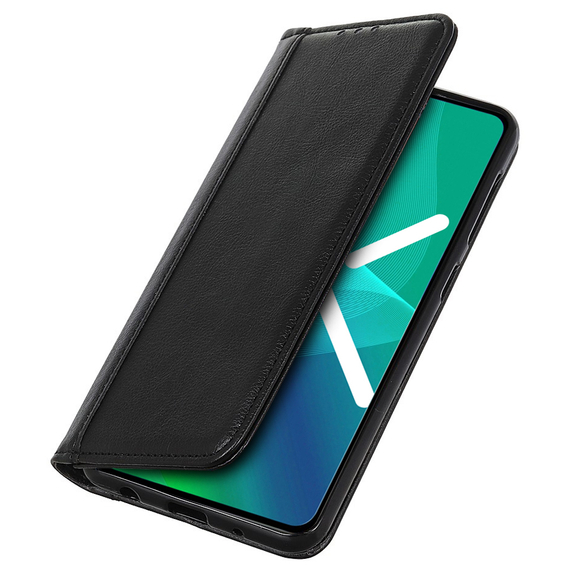 Etui Wallet do Samsung Galaxy A21S - Litchi Leather - Black