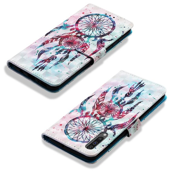 Etui Wallet do Samsung Galaxy A50/A30s, Light Spots Decor, Dream Catcher