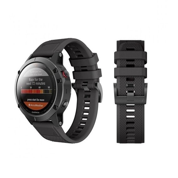 Pasek Smooth do Garmin Fenix 3/5X/3HR/5X Plus/6X/6X Pro - Black
