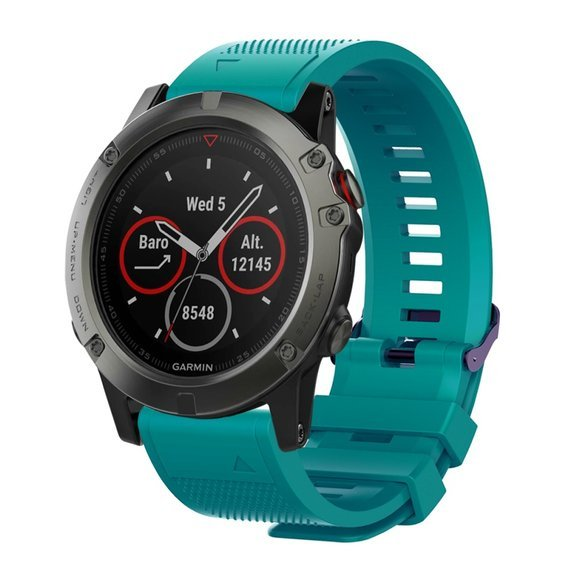 Pasek Smooth do Garmin Fenix 3/5X/3HR/5X Plus/6X/6X Pro - Cyan
