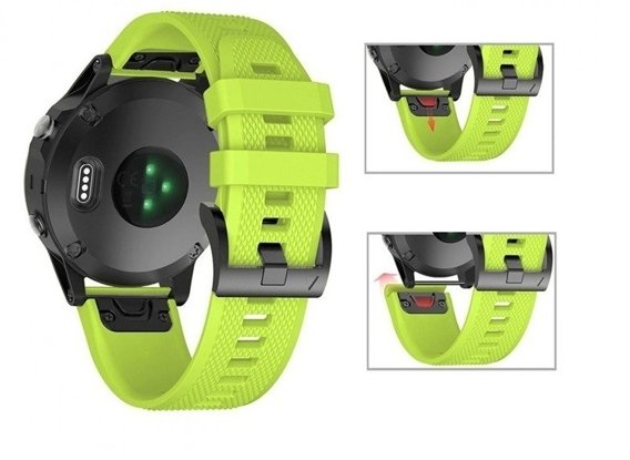Pasek Smooth do Garmin Fenix 3/5X/3HR/5X Plus/6X/6X Pro - Green