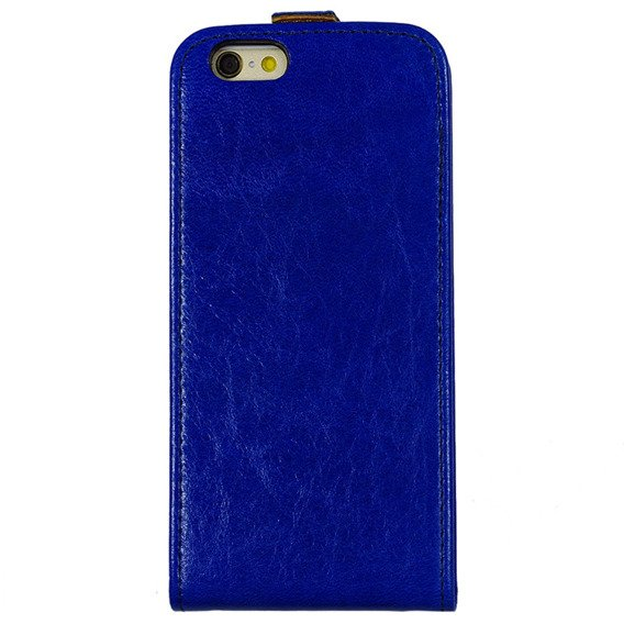 SHTL Etui Genuine Leather Flip Case iPhone 6/6s 4.7 - Blue