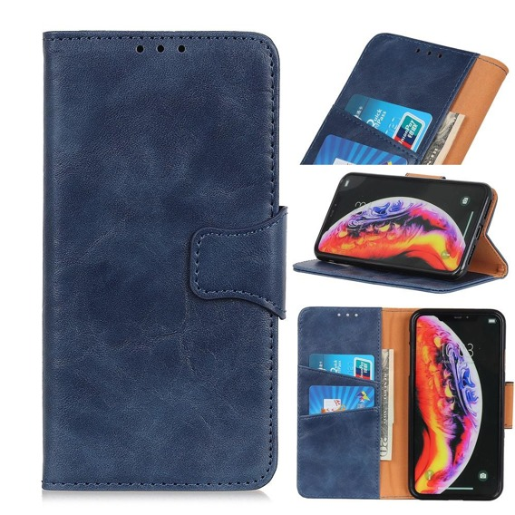 Skórzane Etui Wallet Flexi Book do Samsung Galaxy A40 - Blue