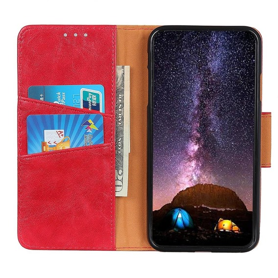Skórzane Etui Wallet do Samsung Galaxy A20E - Red